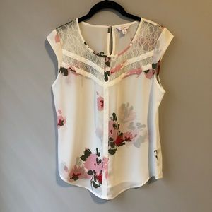 Candies Floral/Lace Top